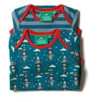 Body manches longues - set de 2 - coton bio/équitable - Sky rockets LITTLE GREEN RADICALS