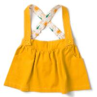 Jupe qui tourne - coton bio - jaune d'or LITTLE GREEN RADICALS
