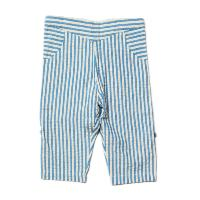 "Pantalon ""plage"" - coton bio / équitable - Seersucker bleu clair LITTLE GREEN RADICALS"