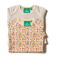 Body manches longues - set de 2 - coton bio/équitable - Autumn blossom LITTLE GREEN RADICALS
