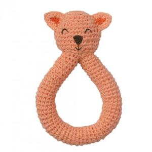 Hochet chat - crochet - commerce équitable - bio - PEPPA