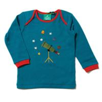 Tee shirt manches longues - coton bio / équitable - Applique Star Gazer LITTLE GREEN RADICALS