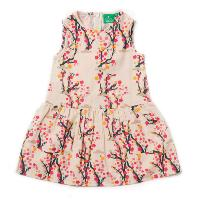 "Robe ""Run free"" - coton bio - Winter blossom LITTLE GREEN RADICALS"